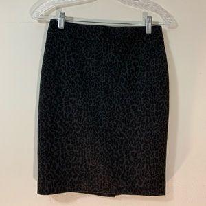 LOFT animal print skirt size: 0P